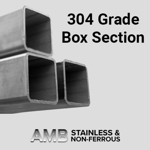 Stainless Steel Sheffield | 100 x 100 x 5.0 304 Box Section