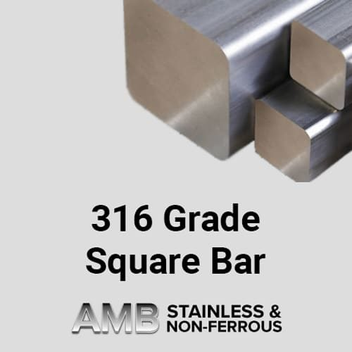 "Stainless Steel Sheffield | 4"" Square 316 Stainless Steel"